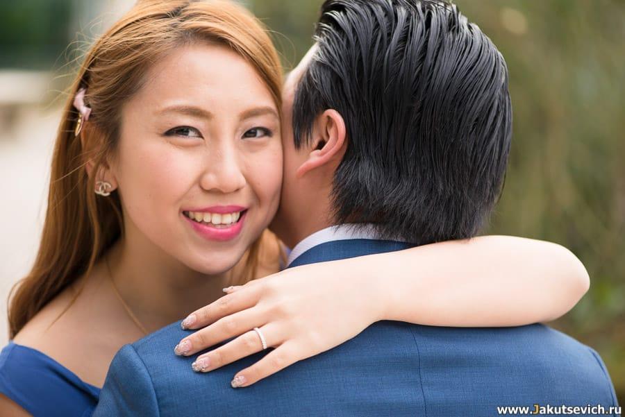 портрет счастливой невесты