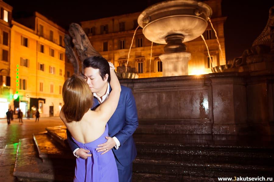 Влюбленные в Риме свадебное путешествие