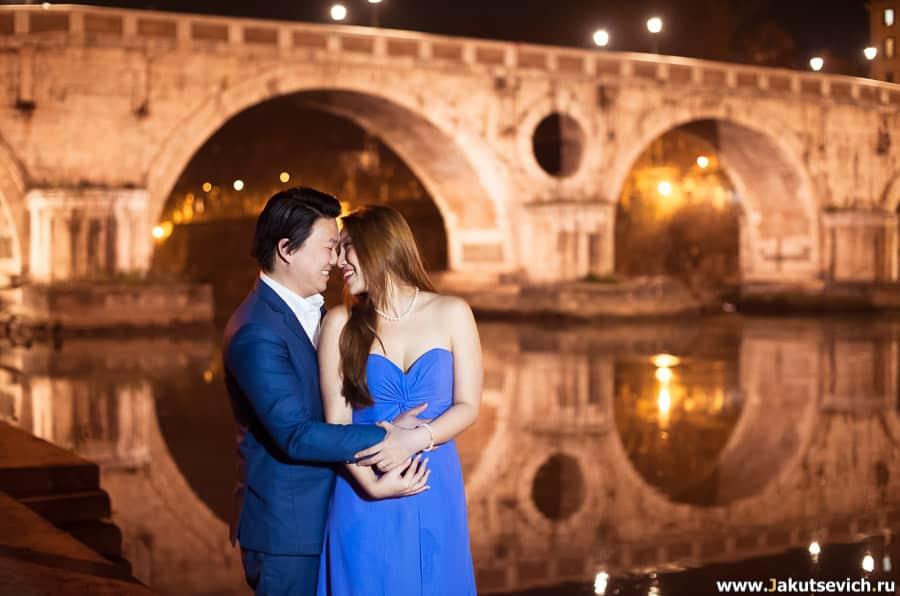 Фотосессия в январе Рим мост Сикста
