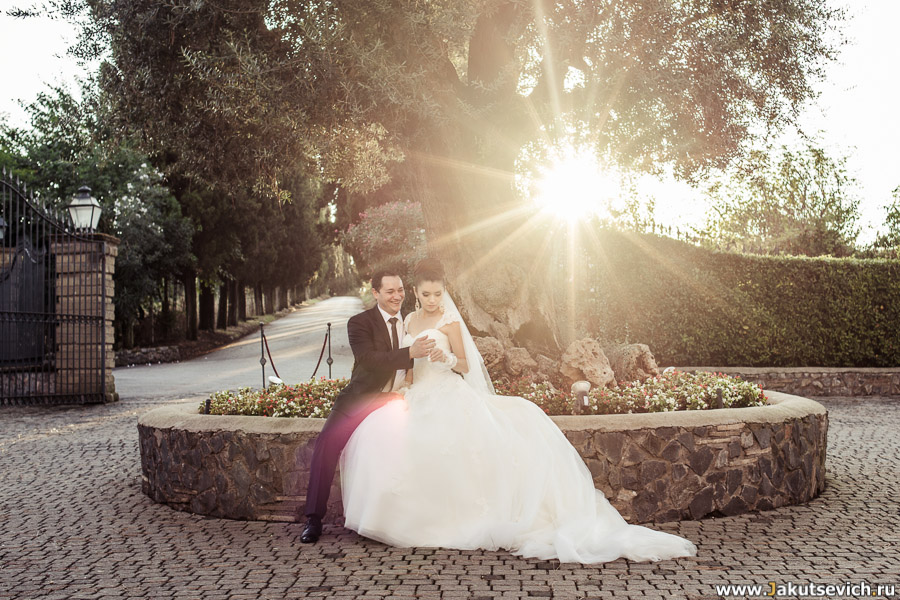 Свадьба в итальянском замке - профессиональная фотосессия