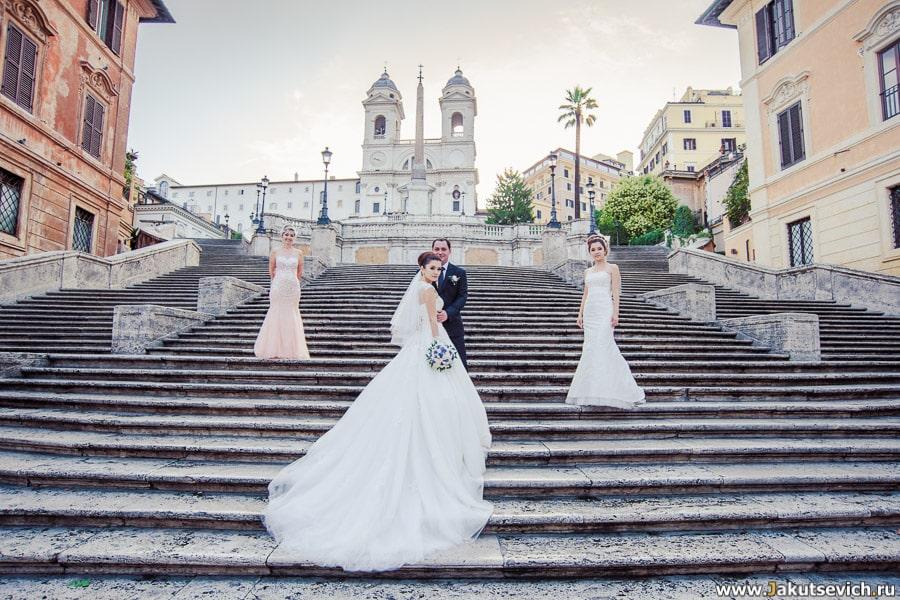 Испанская лестница жених и невеста