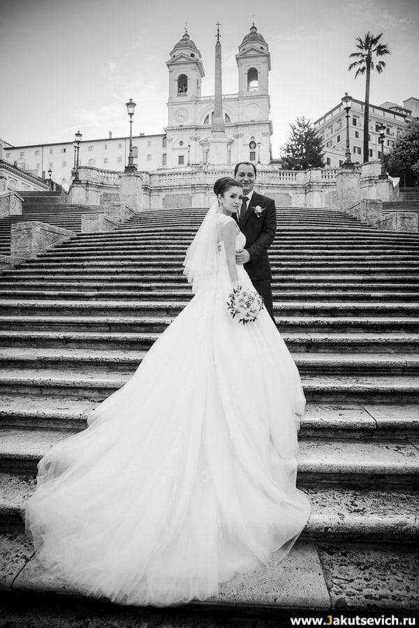 Испанская лестница свадебная фотосессия