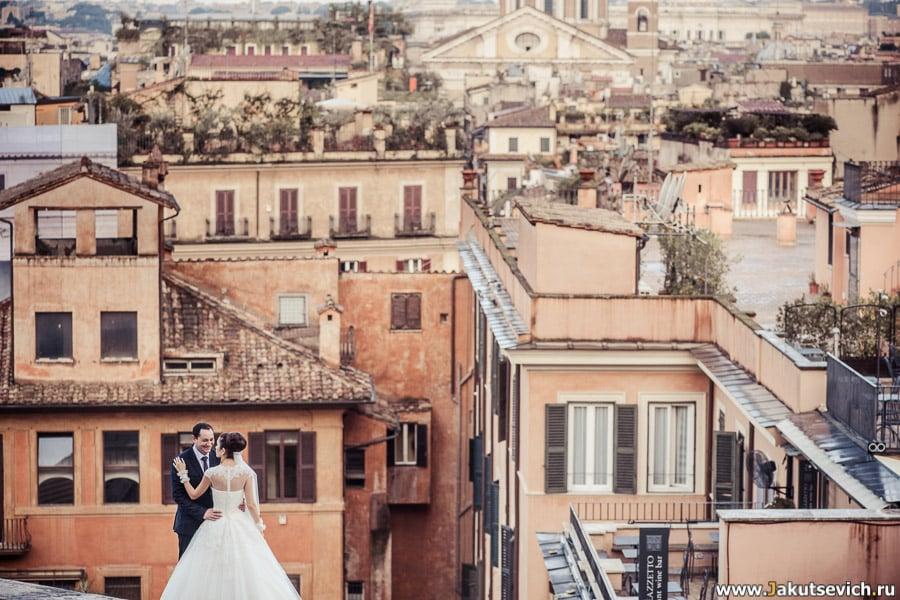 Свадебная фотосессия в Риме свадьба в Италии
