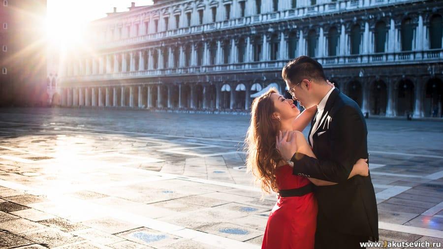 фотосессия в Венеции на площади Сан-Марко