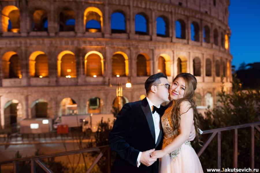 Фотосессия ночью в Риме