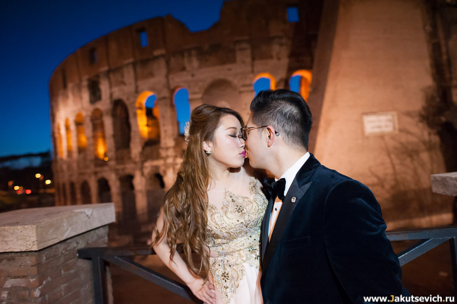 Ночная романтика в Риме