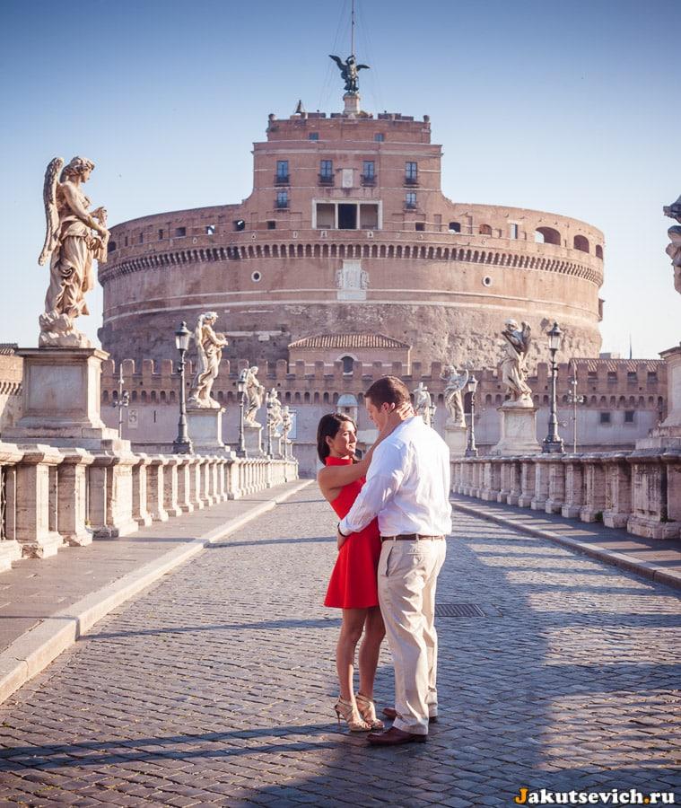 Мост святого Ангела – фотосессия для влюбленных