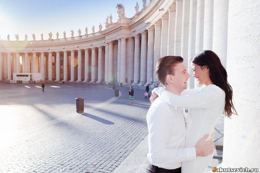 Фотосессия лав стори в Ватикане
