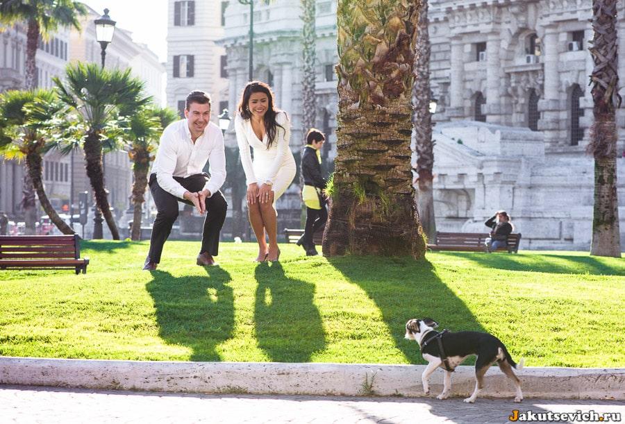 Фотосессия на Piazza Cavour в Риме