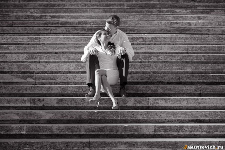 Фотосессия в Риме на лестнице