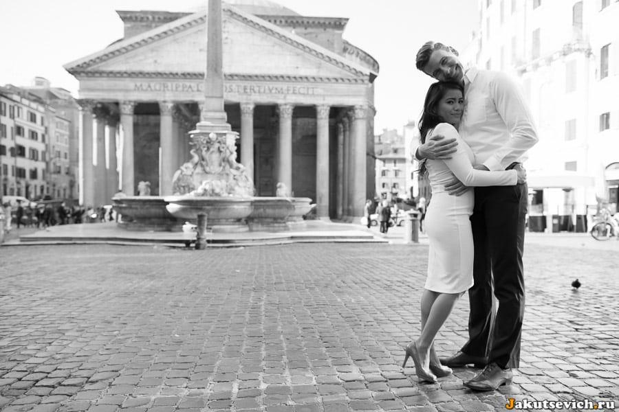 Пантеон в Риме фотосессия для влюбленных