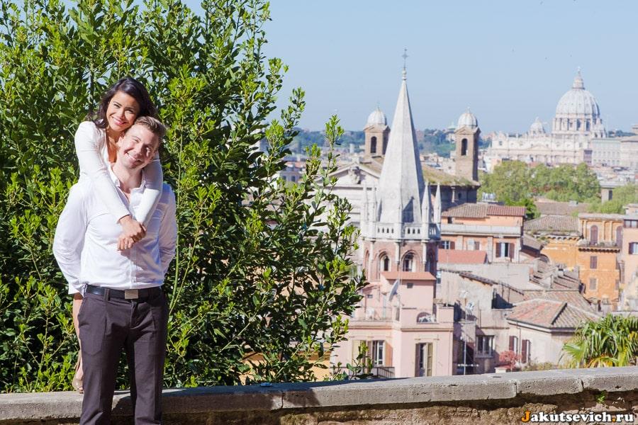 Красивые виды Рима с холма Пинчо