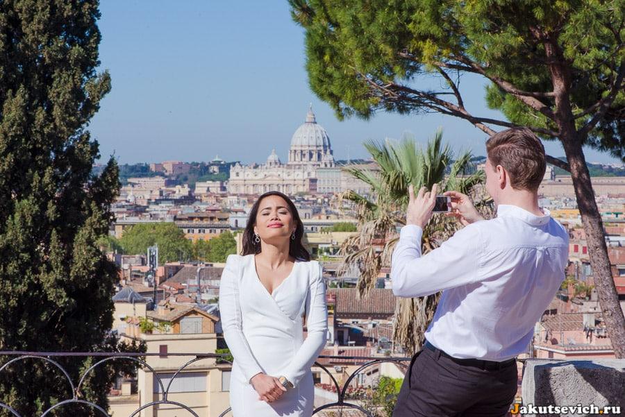 где сфотографироваться в Риме красивые места