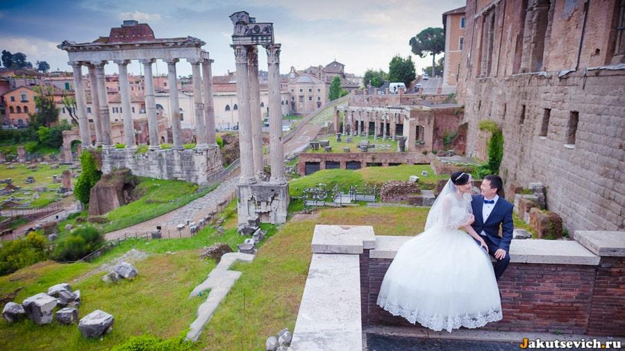 Римский форум свадебная фотосессия