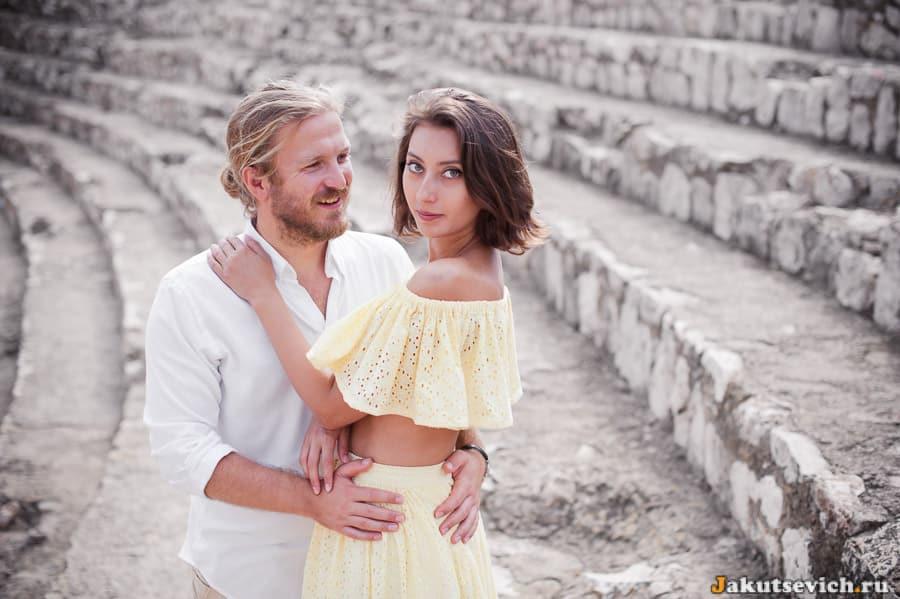 Влюбленные в римском амфитеатре в Таррагоне