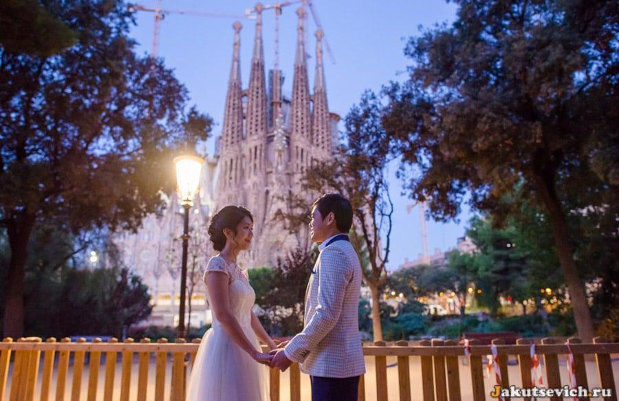 свадебная фотосессия в Барселоне у Храма Святого Семейства