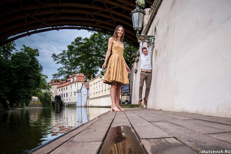 Веселая фотосессия в Праге