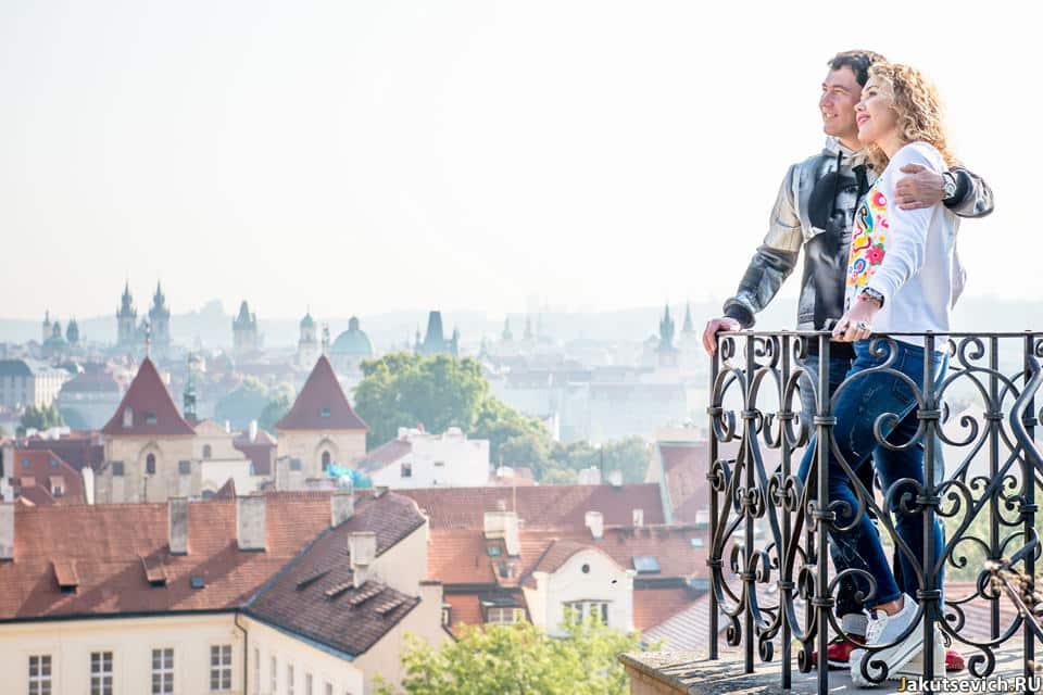 Прага с высоты фото