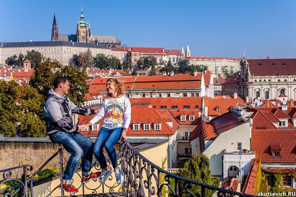 Панорама Праги фото