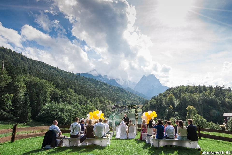 Свадьба в горах Германии