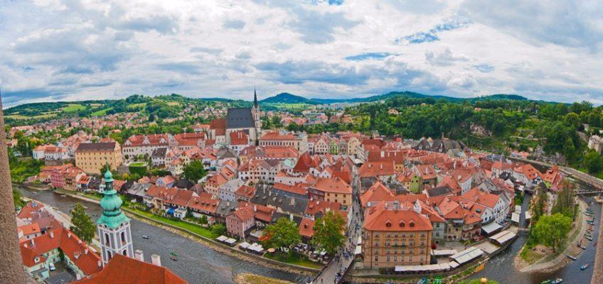панорама города крумлова