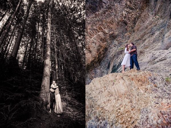 горы свадьба