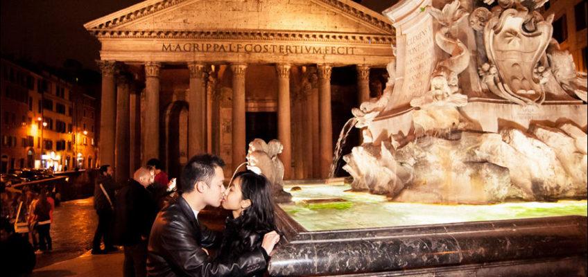 вечерняя фотосессия в Риме