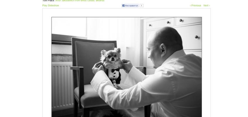 Победа в ежеквартальном конкурсе свадебной фотографии