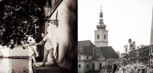влюбленная пара в Праге