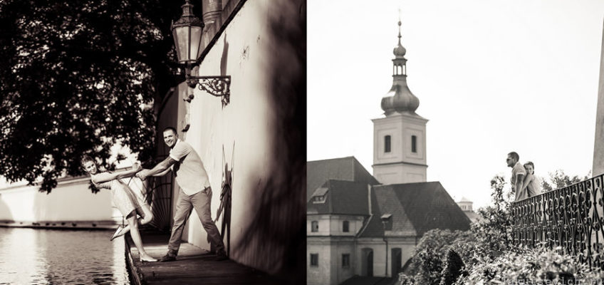 черно-белая фотография Праги