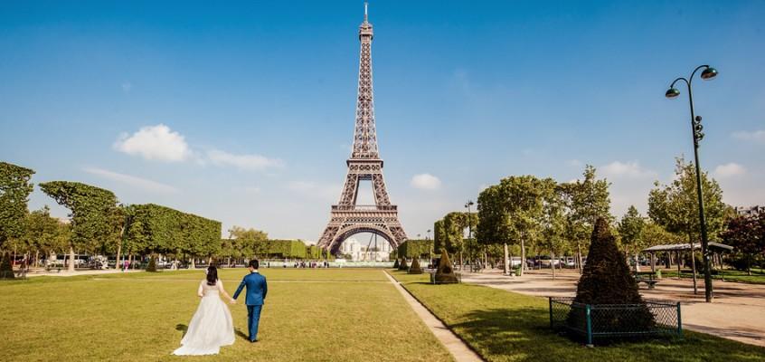 Свадебная фотосессия в Париже в мае для Мэри и Элвина