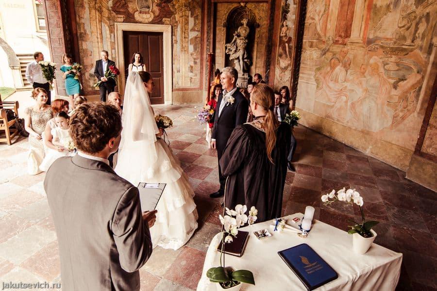 Свадебная церемония в Праге - Вртбовские сады