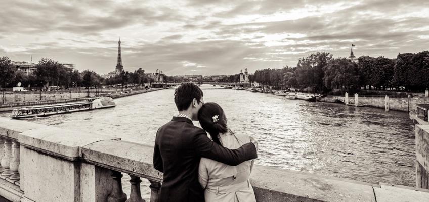 Фотосессия в Париже в мае: Love Story для Мэри и Элвина