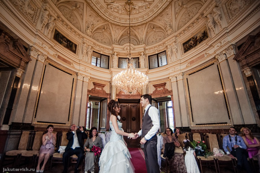 Свадебная церемония в чешском замке