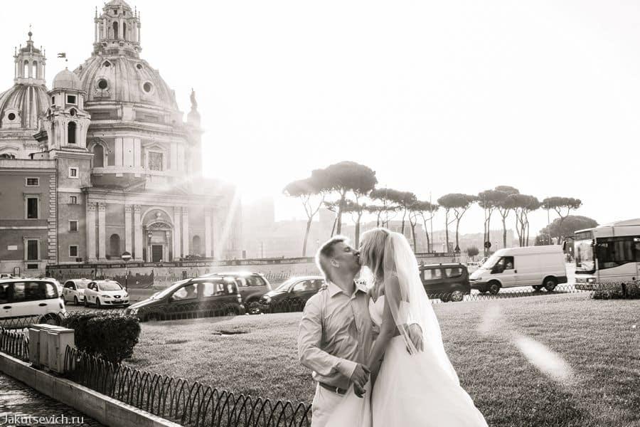 Площадь Венеции в Риме - рассвет