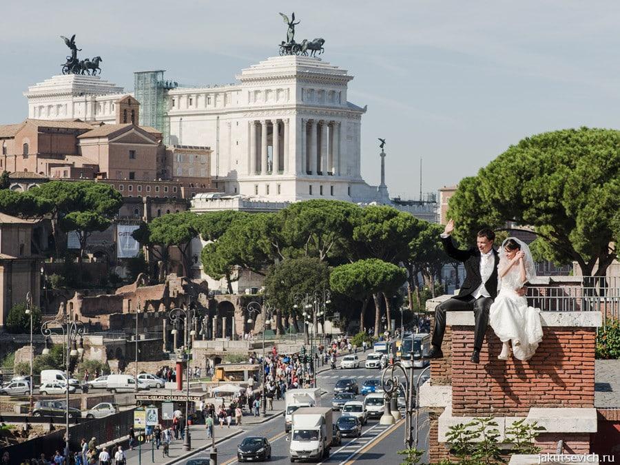Свадьба в Риме - фотограф в Италии Артур Якуцевич