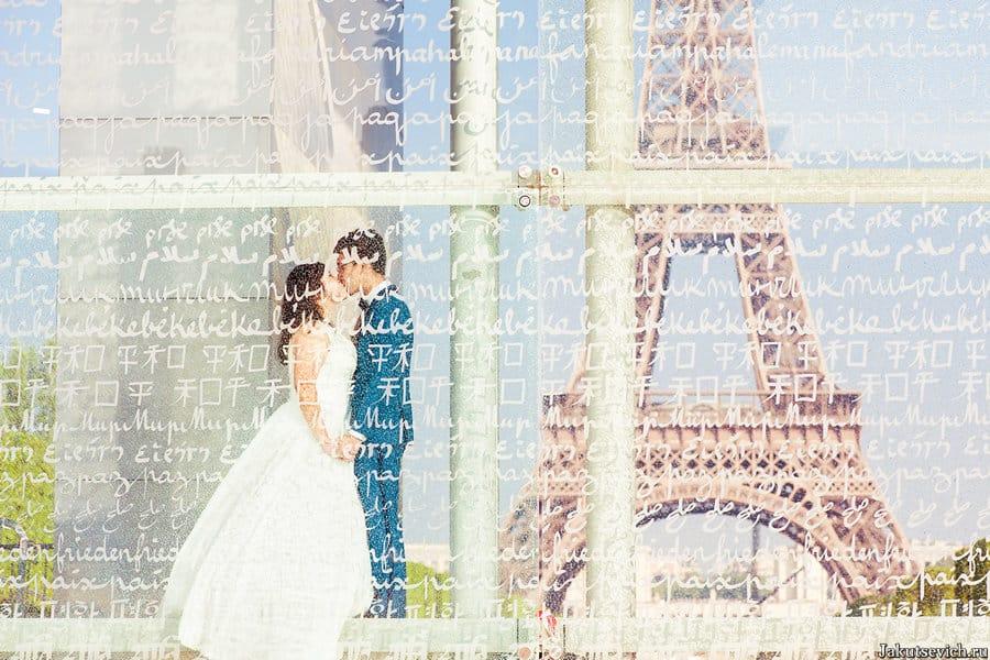 свадьба за границей в Париже