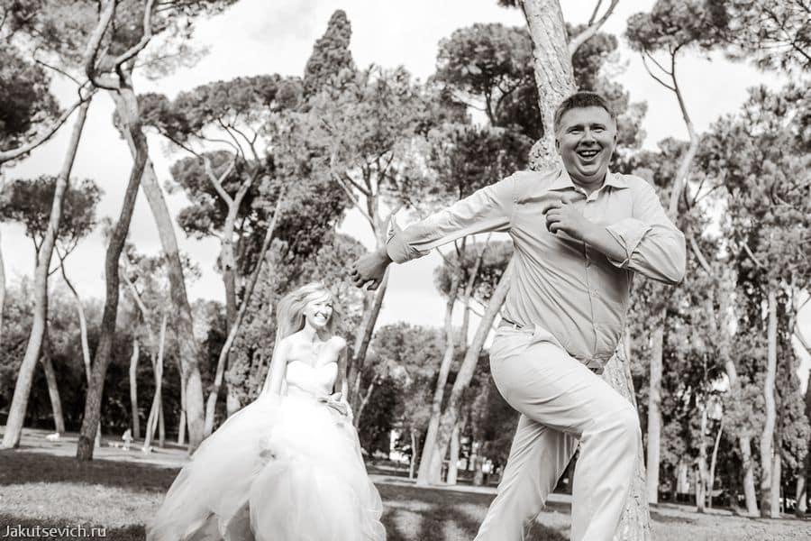 Свадебная фотосессия в Риме в сентябре: из Новосибирска с любовью