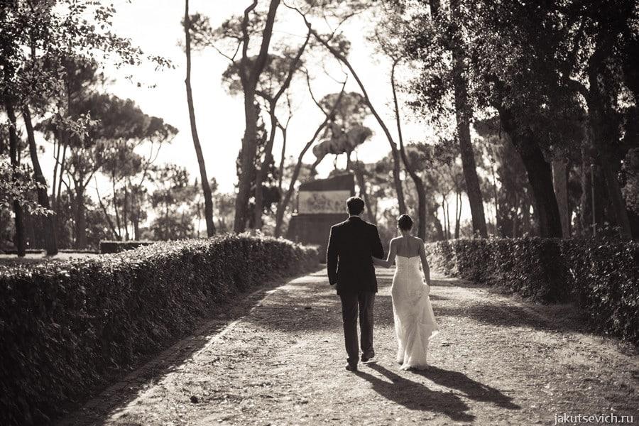 Вилла Боргезе - свадьба в Риме