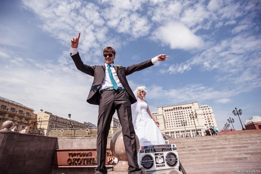 Свадебная прогулка по Москве - рядом с Красной площадью