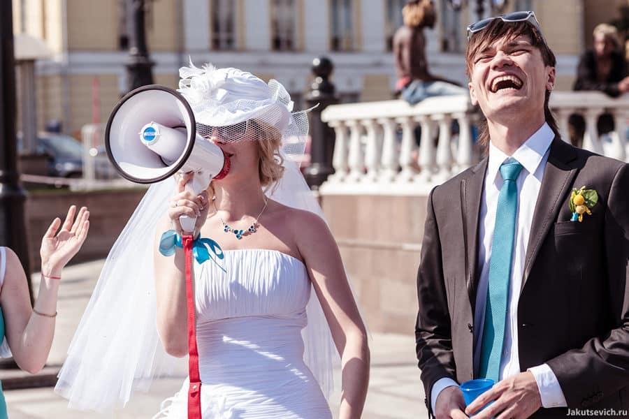 Веселая свадьба в Москве