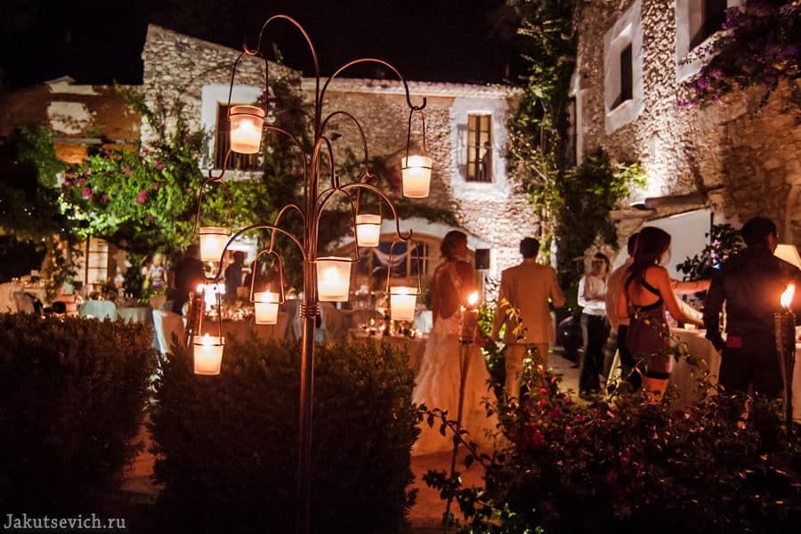 Красивая свадьба на вилле в Испании