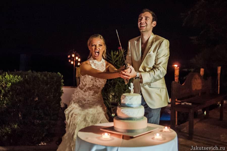 свадебный торт на свадьбе в Испании