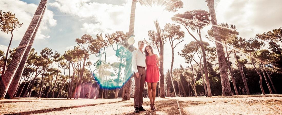 Свадебное путешествие в Рим в июле: фотосессия Насти и Сергея
