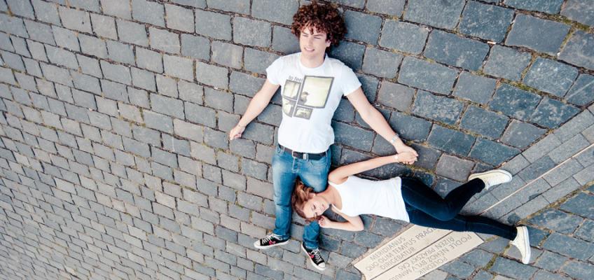 Love Story фотосессия в Праге в июле для Анны и Рене