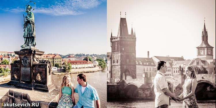 Карлов мост - утро в Праге