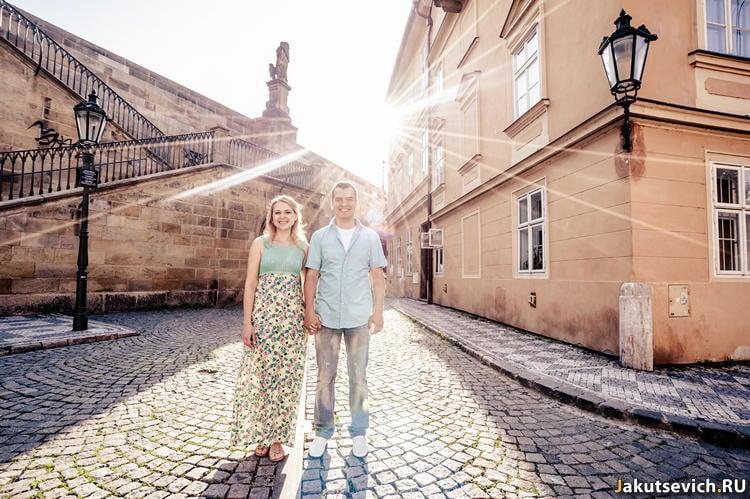 Утро в Праге - первые лучи солнца - фотограф в Чехии Артур Якуцевич