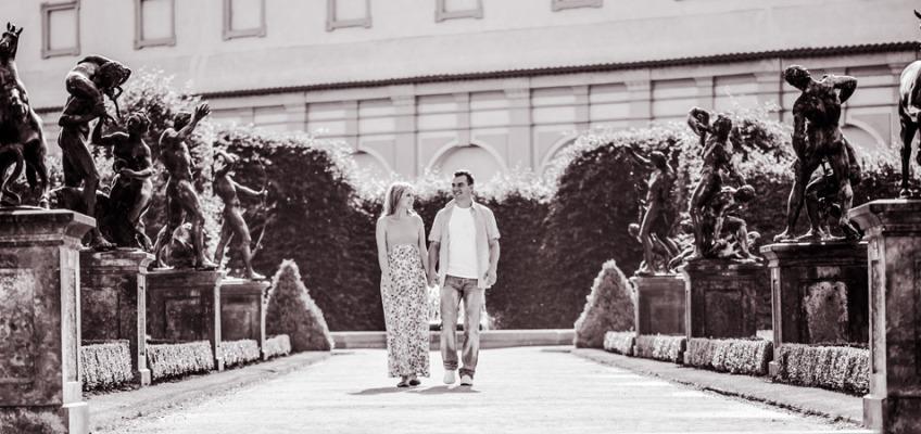 Лав стори фотосессия в Праге летом для Ольги и Алексея