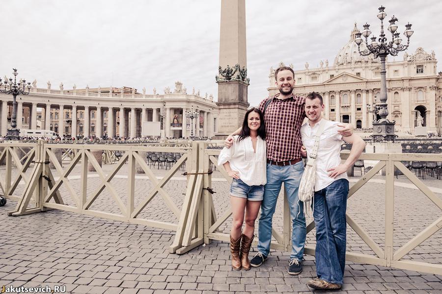 Прогулка по Риму - замечательное утро фото на память в Ватикане
