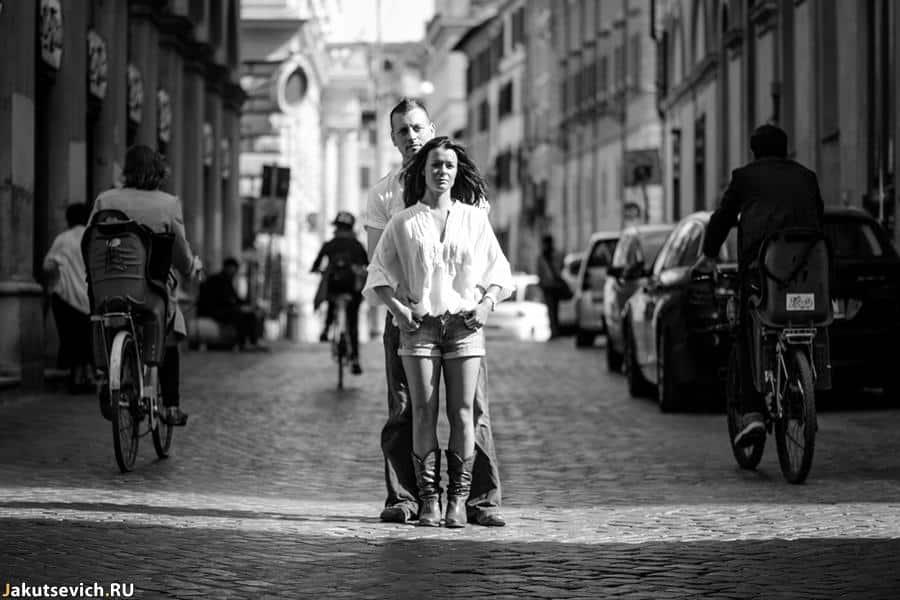 Прогулка по Риму - замечательное утро фотосессия